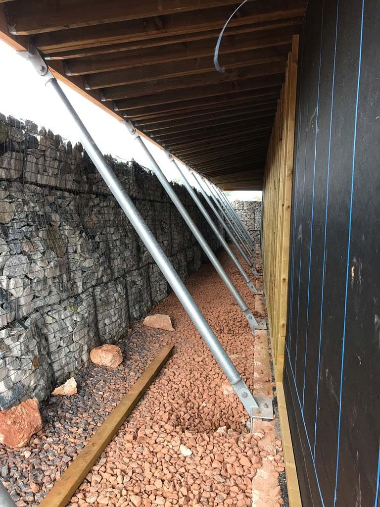 Gabion Baskets and Support Struts