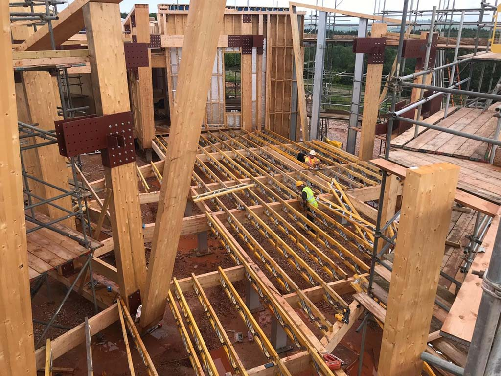 Hux Shard Phase 3 Floor Joists In Position